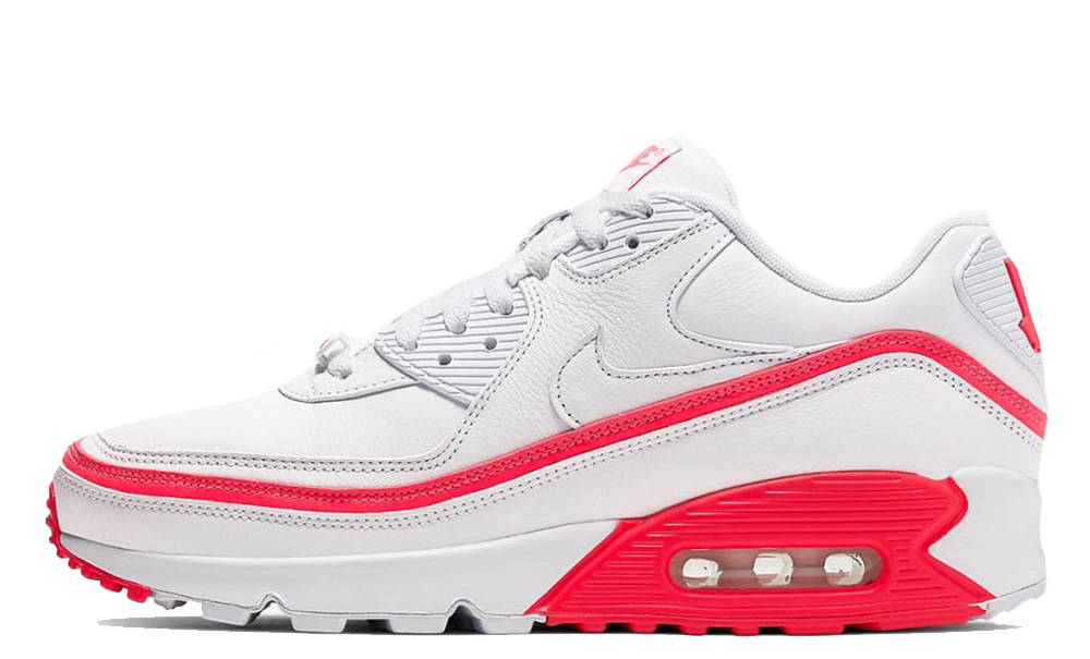 UNDEFEATED x Nike Air Max 90 White Red CJ7197-103