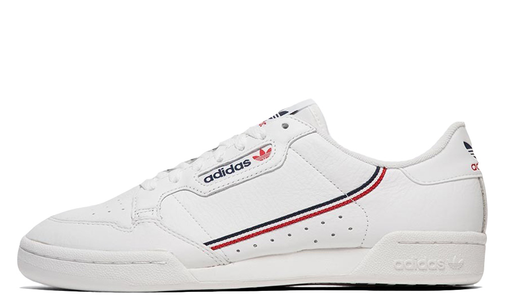 adidas Continental 80 White Navy Scarlet