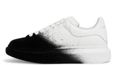 Alexander McQueen Exaggerated-Sole Velvet White Black 586388WHWM19034