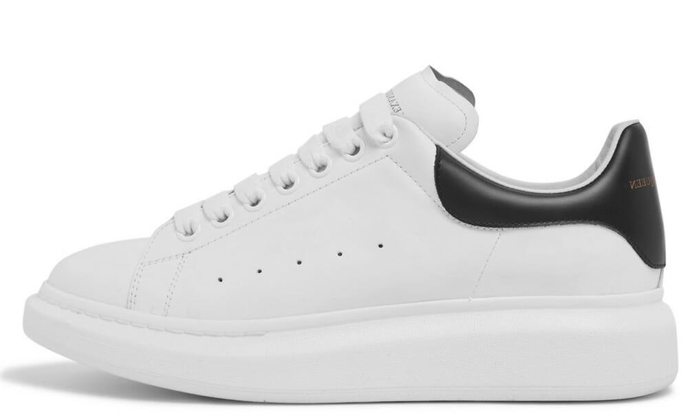 Alexander McQueen Exaggerated-Sole White Black 553770WHGP79061