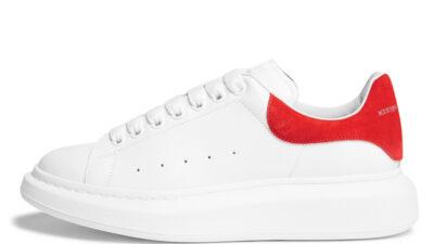 Alexander McQueen Exaggerated-Sole White Red 553770WHGP79676