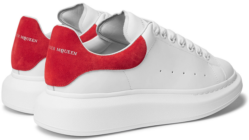 alexander mcqueen trainers red back off