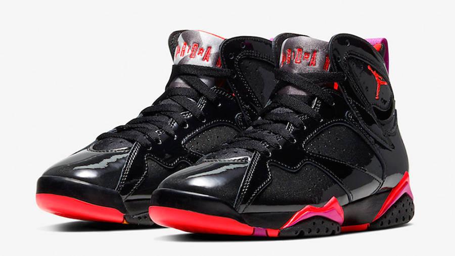 Jordan 7 Black Gloss 313358-006 front
