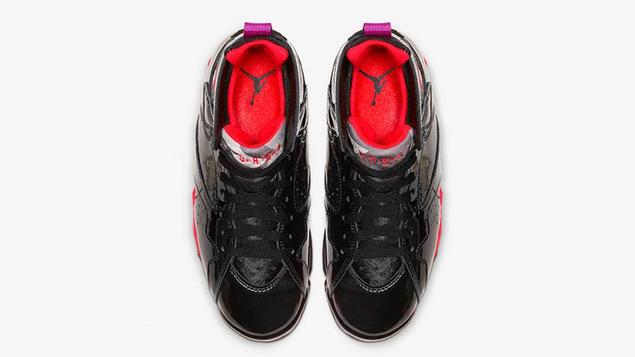 Jordan 7 Black Gloss 313358-006 middle