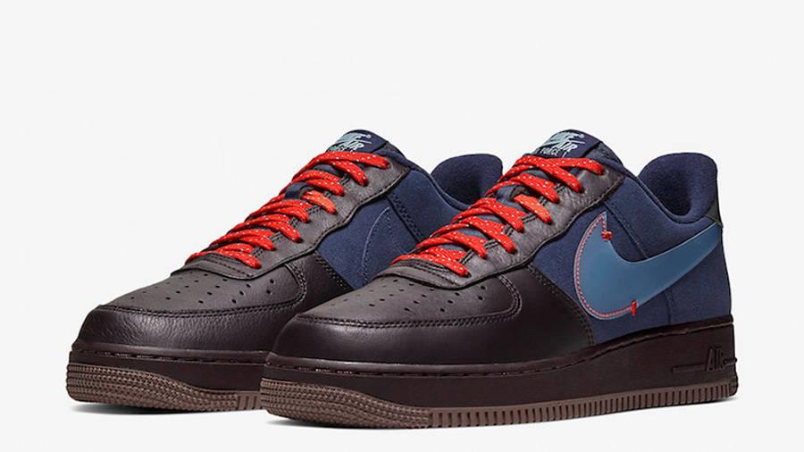 Nike Air Force 1 Low Burgundy Ash