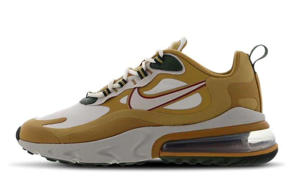 Nike Air Max 270 React Gold Light Bone AO4971-700