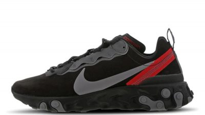 Nike React Element 55 Black Red CQ6366-001