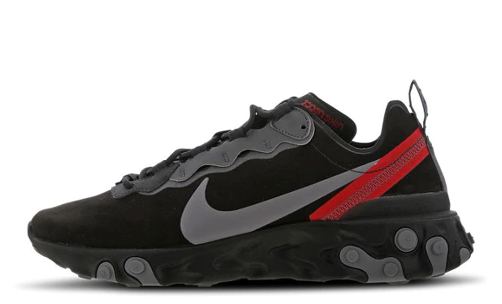 Nike React Element 55 Black Red   Where