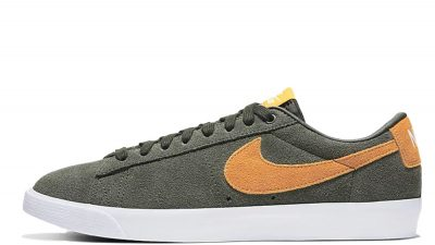 Nike SB Blazer Low GT Sequoia Kumquat 704939-302 lifestyle front