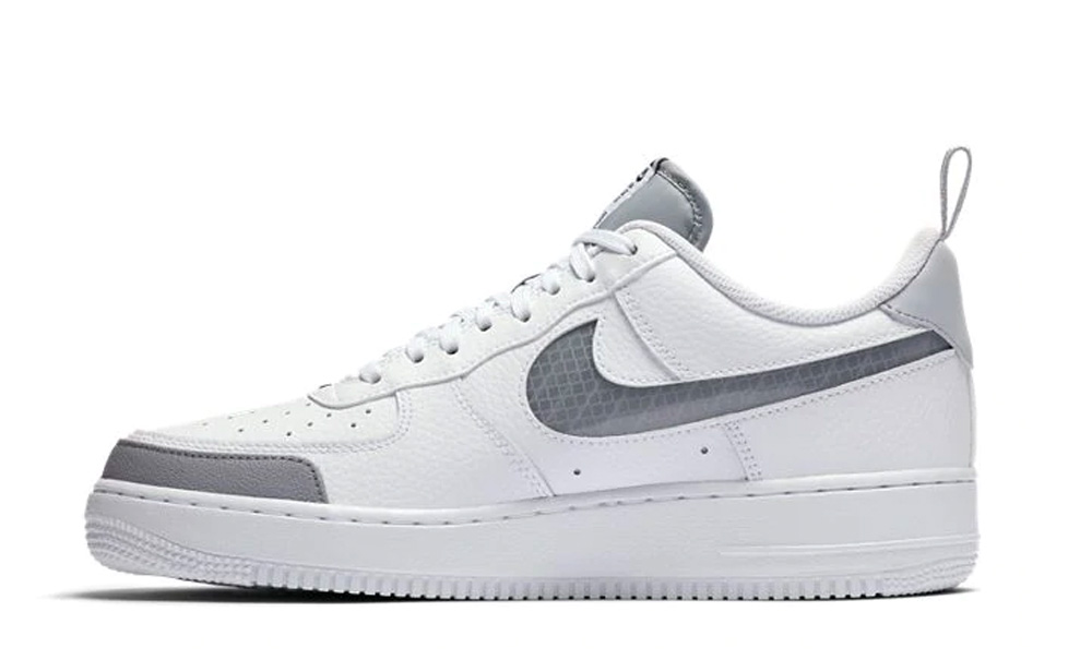 Nike air force under construction white grey