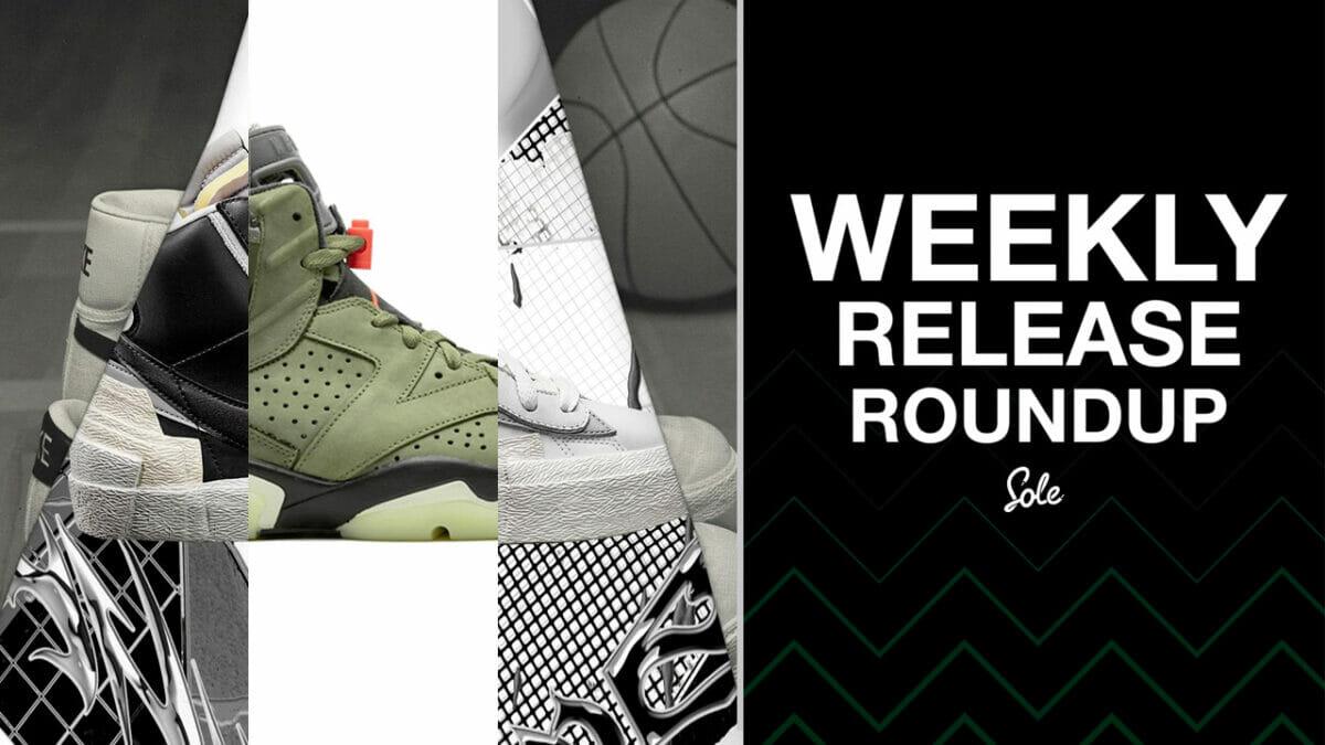 The Weekly Release Round-Up   Travis Scott x Nike Air Jordan 6 & sacai x Nike Blazer