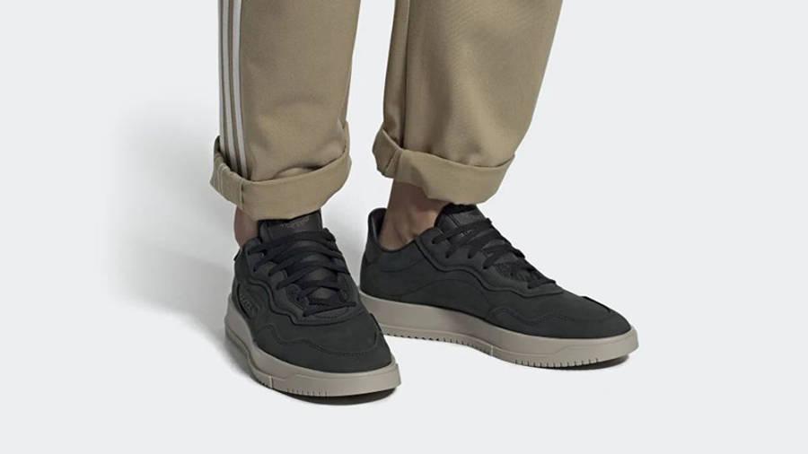 adidas SC Premiere Black Light Brown EE6023 on foot