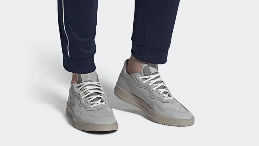 adidas SC Premiere Grey Light Brown EE6022 on foot