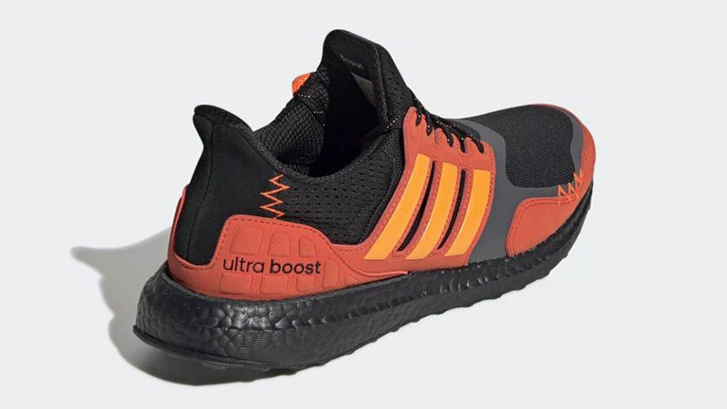 adidas Ultra Boost S&L Black Orange FV7283 back