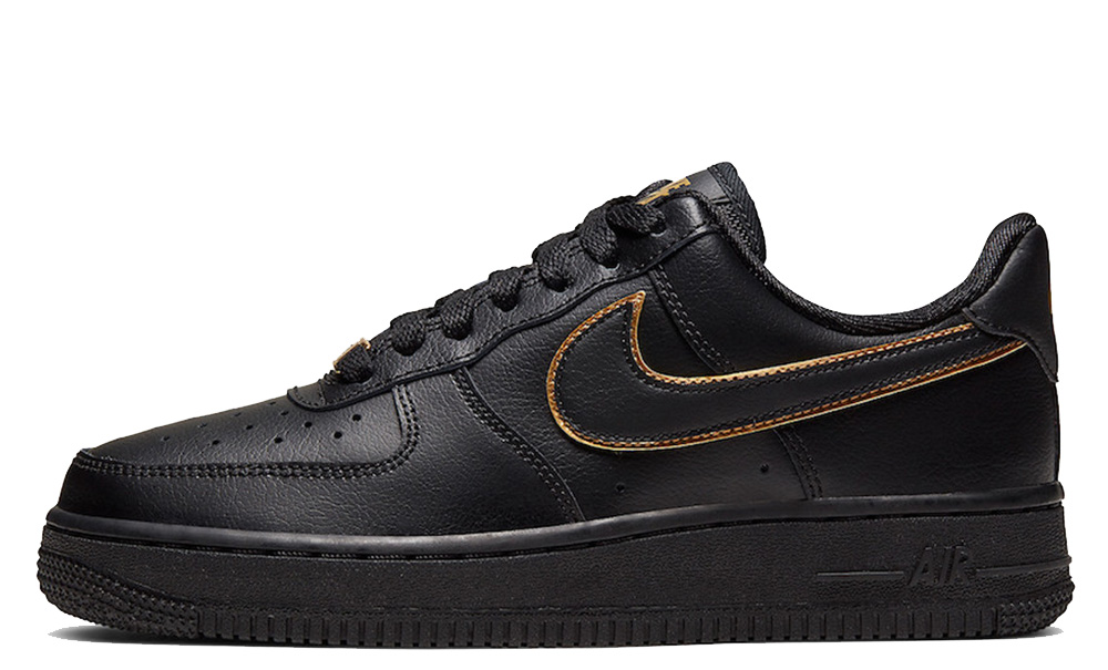 Nike Air Force 1 Low Gold Swoosh Pack Black AO2132-005