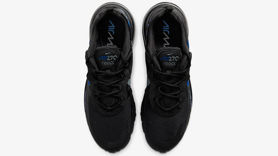 Nike Air Max 270 React Just Do It Black CT2203-001 middle