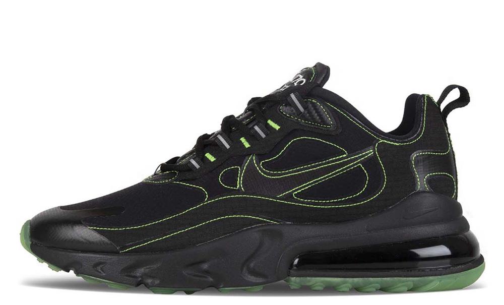 Nike Air Max 270 React SP Black Electric Green CQ6549-001