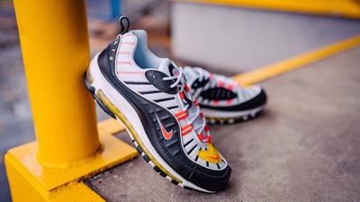 Nike Air Max 98 Crimson Yellow 640744-016 lifestyle front