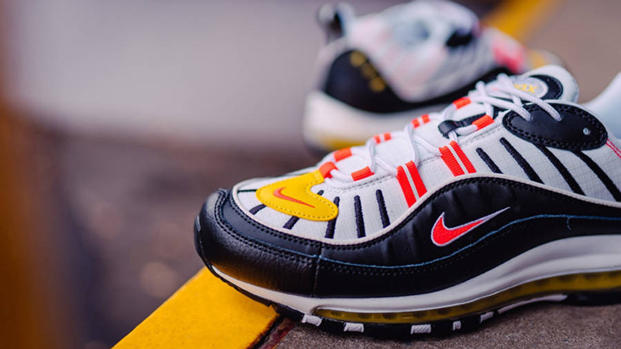Nike Air Max 98 Crimson Yellow 640744-016 lifestyle side