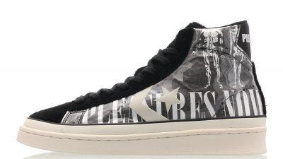 Pleasures x Converse Pro Leather Mid Black Grey 165602c
