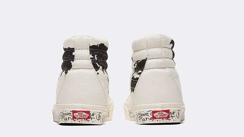 Save Our Planet X Vans SK8-Hi White Black back