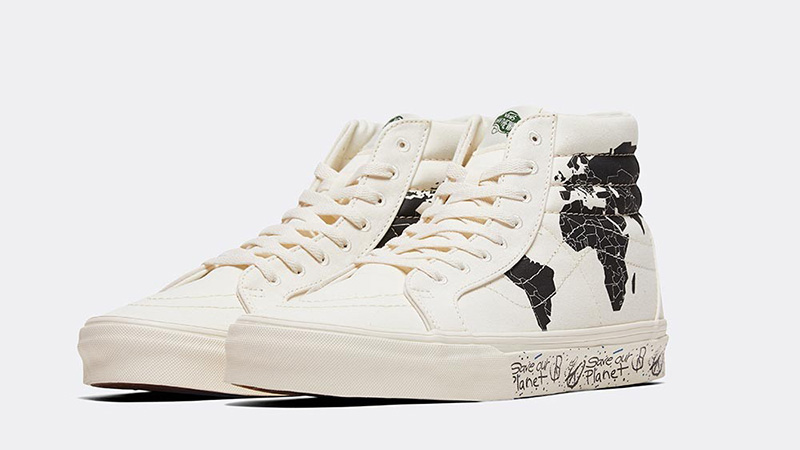Save Our Planet X Vans SK8-Hi White Black front