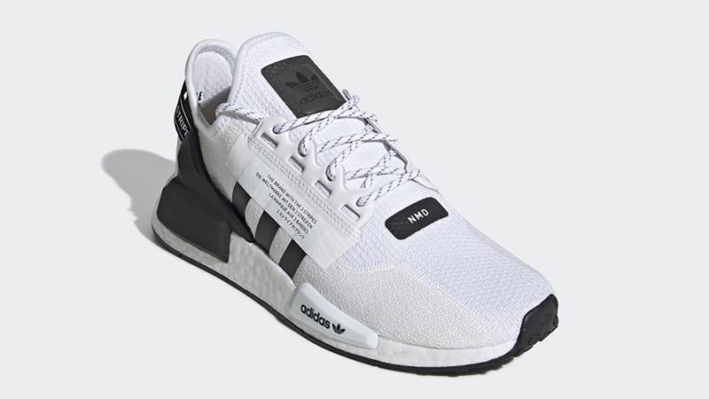 adidas NMD R1 V2 White Black