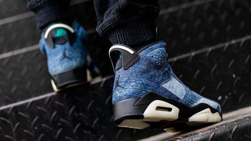"An On Foot Look At The Air Jordan 6 ""Washed Denim"""