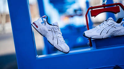 ASICS GEL-Kayano 5 White Red 1021A280-100 side