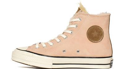 Converse Chuck 70 Hi Shearling Navy Pink 166319C