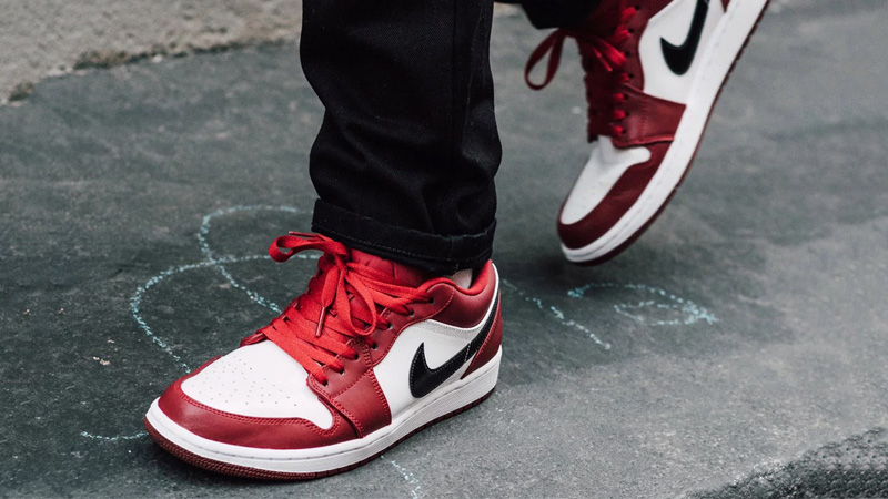 jordan air 1 low junior rouge