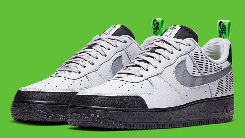 Nike Air Force 1 Low Under Construction Grey Green - BQ4421-001 Front
