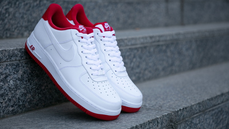 white red air force ones