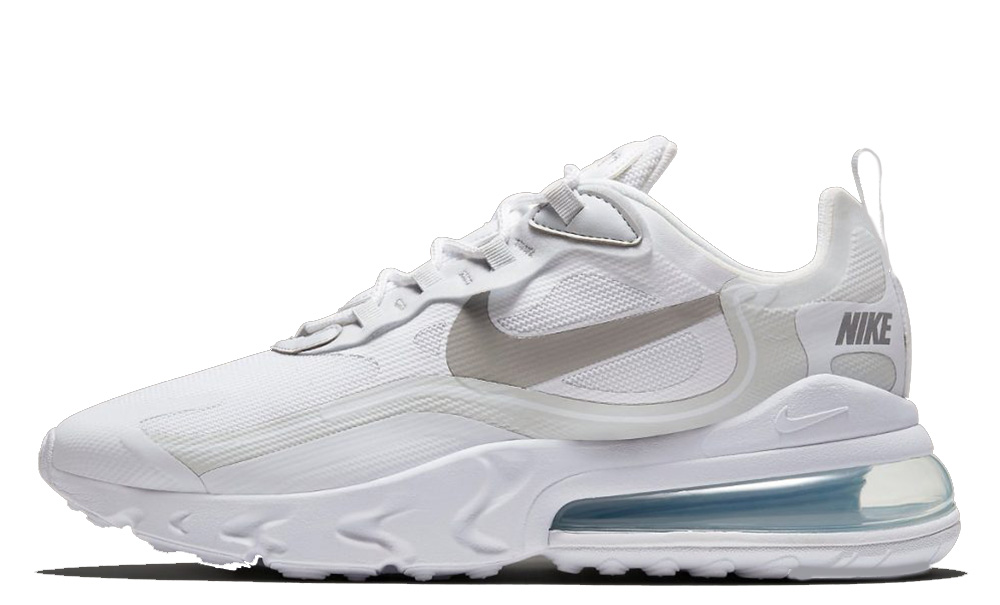 air max 270 react white on feet
