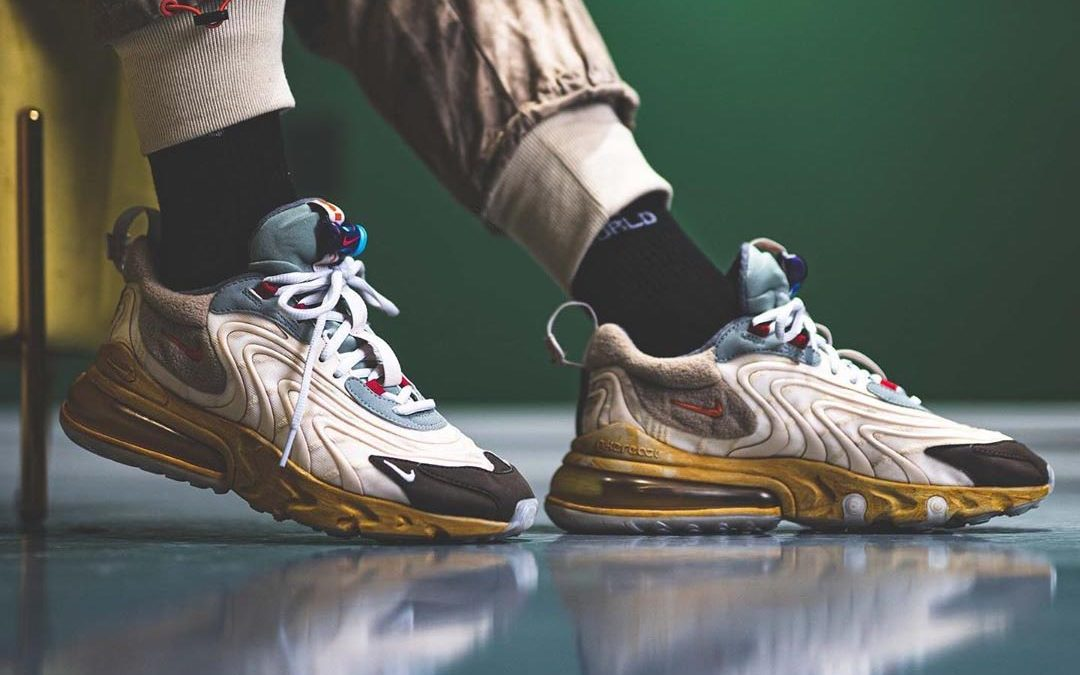 An On Foot Look At The Travis Scott X Nike Air Max 270 React