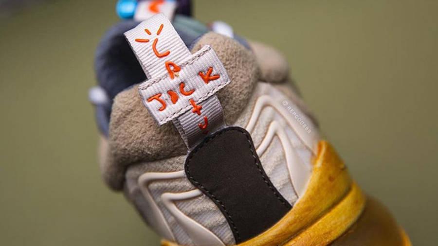 Travis Scott x Nike Air Max 270 React Cactus Jack Closeup Back
