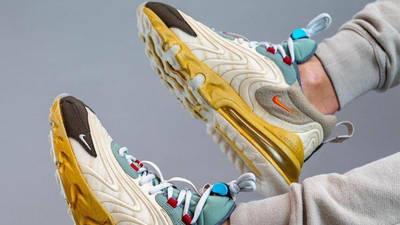 Travis Scott x Nike Air Max 270 React Cactus Jack On Foot Side