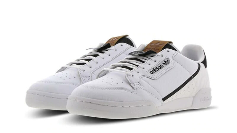 adidas continental 80 white black|59