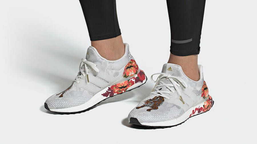 adidas Ultra Boost DNA Chinese New Year White FW4313 on foot