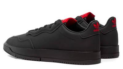 adidas x 424 sc premiere black heel shot