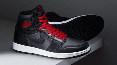 Nike Air Jordan 1 Black Satin Raffles