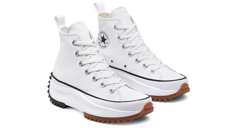 Converse Runstar Hike High White Black Gum 166799C front