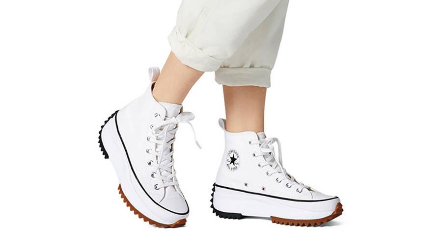 Converse Runstar Hike High White Black Gum 166799C on foot