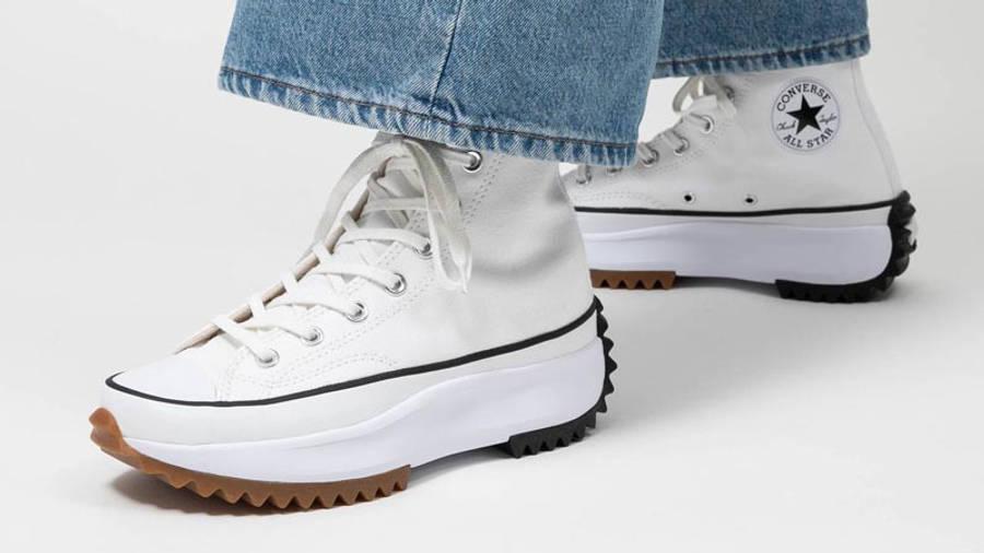 Converse Runstar Hike High White Black Gum On Foot Front