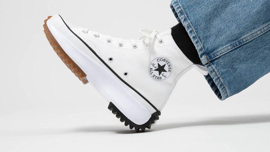 Converse Runstar Hike High White Black Gum On Foot Side