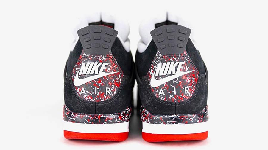 Drake OVO x Jordan 4 Splatter back
