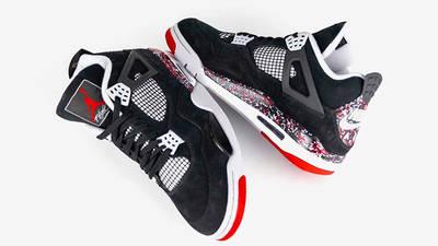 Drake OVO x Jordan 4 Splatter from top