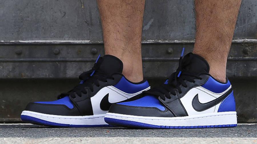 Jordan 1 Low Royal Toe On Foot