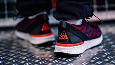 Nike ACG React Terra Gobe Red Purple BV6344-601 on foot back