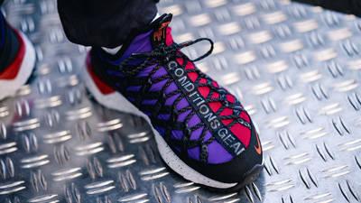Nike ACG React Terra Gobe Red Purple BV6344-601 on foot front